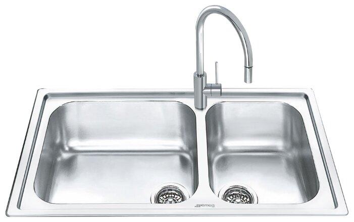Врезная кухонная мойка smeg LGM862-2