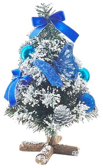Искусственная новогодняя елка с украшениями