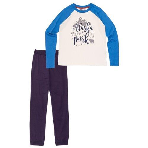 Комплект одежды Winkiki размер 134, синий/черныйКомплекты и форма<br>