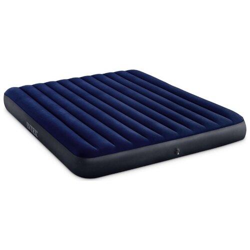 Фото - Надувной матрас Intex Classic Downy Airbed (64755) синий надувной матрас intex mid rice airbed 64116 светло темно серый