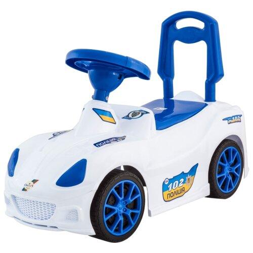 Купить Каталка-толокар Orion Toys Спорткар (160) со звуковыми эффектами белый, Каталки и качалки