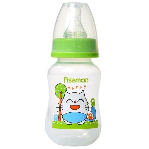 Купить Fissman Бутылочка пластиковая 125 мл 687268736874 с рождения, салатовый, Бутылочки и ниблеры