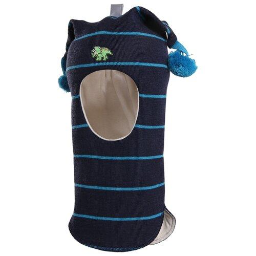 Шапка-шлем Kivat размер 1, синий/голубой kivat шлем синий в полоску