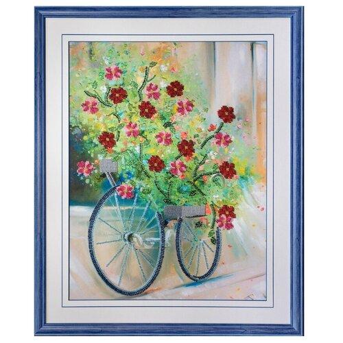 Купить Ажур Набор для вышивания бисером Цветочный велосипед 40 х 30 см (Б-0026), Наборы для вышивания