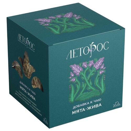 Чай травяной Леторос Мята-жива в пирамидках, 20 шт. чай травяной леторос ромашка целебник в пирамидках 20 шт