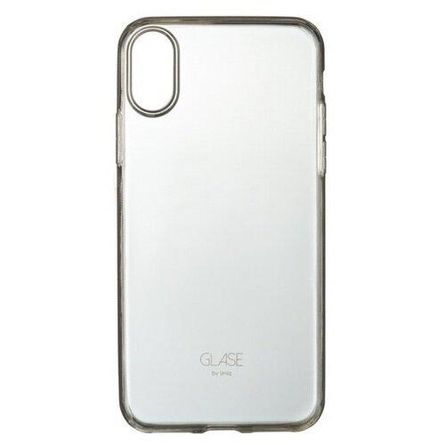Купить Чехол Uniq Glase для Apple iPhone X/Xs прозрачный/серый