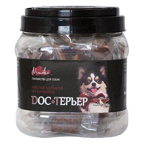 Фото - Лакомство для собак Green Qzin Miniki Doc-терьер, 520 г лакомство для собак green qzin miniki гибкость мягкие утиные хрящики для мини пород 260 г