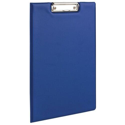 BRAUBERG Папка-планшет с верхним прижимом и крышкой, А4 синий канцелярия brauberg папка планшет contract а4 с прижимом и крышкой