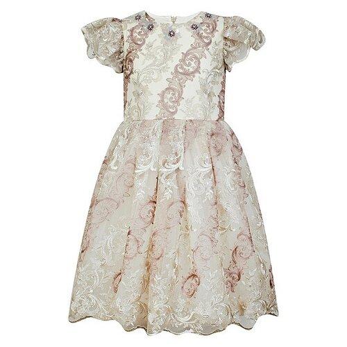 Платье EIRENE размер 104-110, бежевый