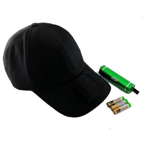 Ручной фонарь SOLARIS T-5 с бейсболкой черный/зеленый