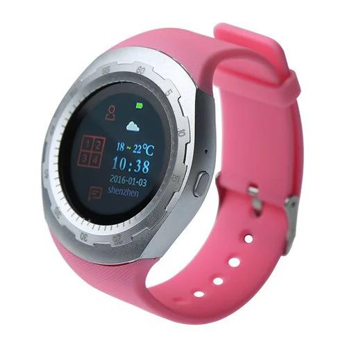 Умные часы CARCAM A7 silver/pink
