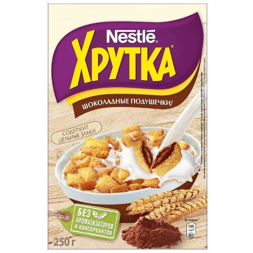 Готовый завтрак Хрутка Шоколадные подушечки, коробка, 250 г готовый завтрак хрутка шоколадные колечки пакет 210 г