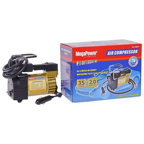 цена на Автомобильный компрессор MegaPower M-14001 черный/золотистый