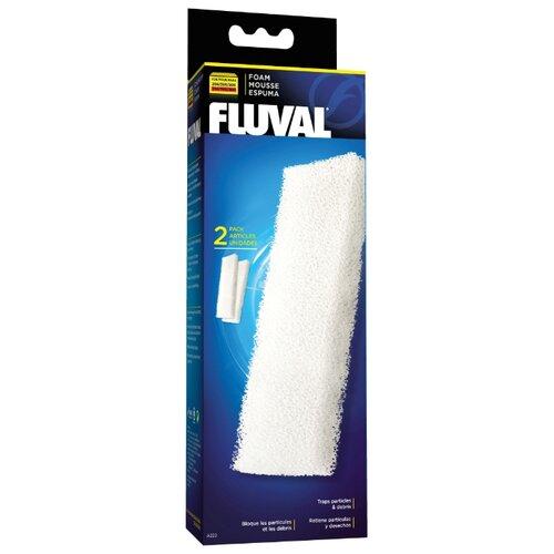 Fluval картридж A222 (комплект: 2 шт.) белый fluval картридж fx5 6 carbon impregnated foam pad комплект 2 шт черный