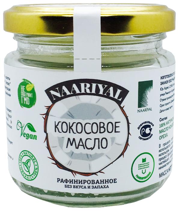 Naariyal Масло кокосовое рафинированное, стеклянная банка