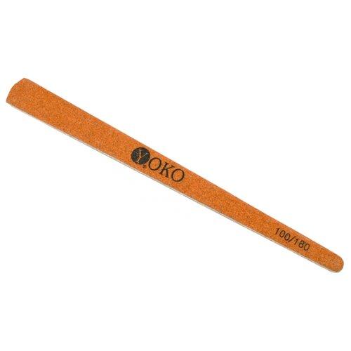 Yoko Пилка на деревянной основе, 100/180 грит коричневый