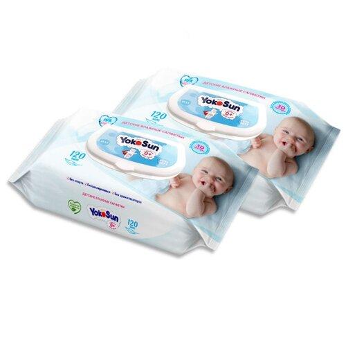 Купить Влажные салфетки Yokosun Детские пластиковая крышка 240 шт.