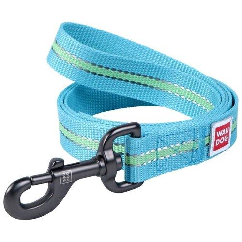 Поводок для собак WAU DOG Nylon голубой 1.22 м 25 мм