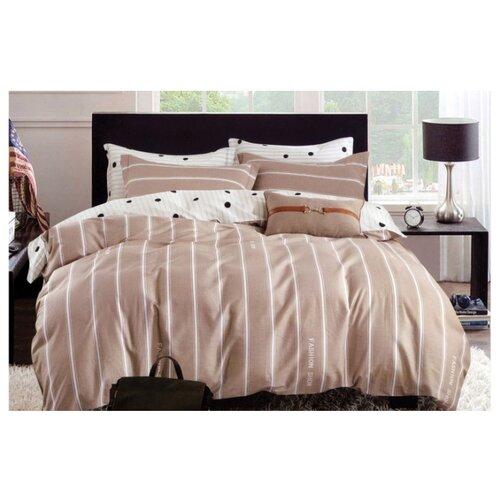 Постельное белье 1.5-спальное Sulyan Кантри сатин, 70 х 70 см бежевый