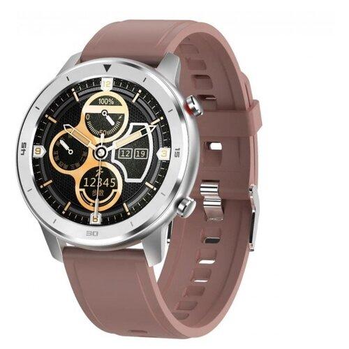 Умные часы GARSline DT78, серебристый/коричневый