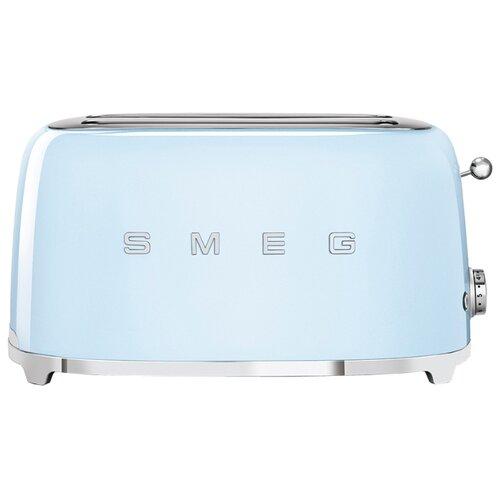 Тостер smeg TSF02PBEU, пастельный голубой соковыжималка для цитрусовых smeg пастельный голубой cjf01pbeu