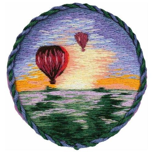 PANNA Набор для вышивания Брошь. Воздушные шары 5.5 x 5.5 см (JK-2185), Наборы для вышивания  - купить со скидкой