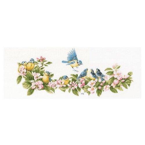 Купить Lanarte Набор для вышивания Лазоревки и цветы 61 х 26 см (PN-0173176), Наборы для вышивания