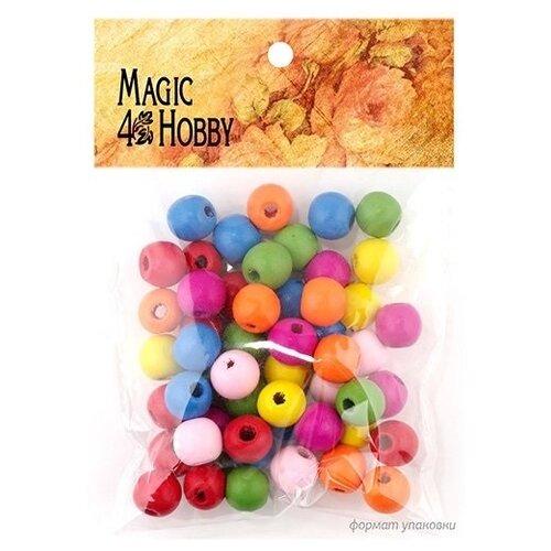 Бусины деревянные детские Magic 4 Hobby, 10x1,5 мм, цвет ассорти, 40 грамм, арт. MG-B 123 бусины деревянные детские 40 г mg b magic 4 hobby желтый зеленый
