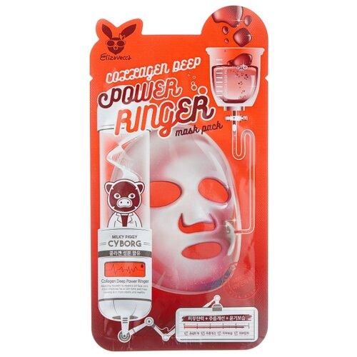 Elizavecca Омолаживающая тканевая маска с коллагеном Collagen Deep Power Ringer Mask Pack, 23 мл недорого