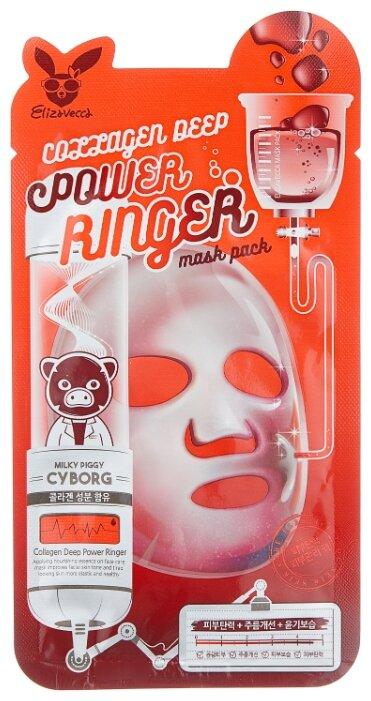Elizavecca Омолаживающая тканевая маска с коллагеном Collagen Deep Power Ringer Mask Pack