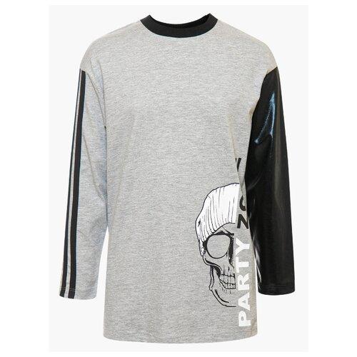 Купить Лонгслив Nota Bene размер 134, серый меланж, Футболки и майки