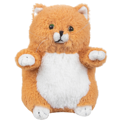 Купить Мягкая игрушка Lapkin Толстый кот рыжий 16 см, Мягкие игрушки