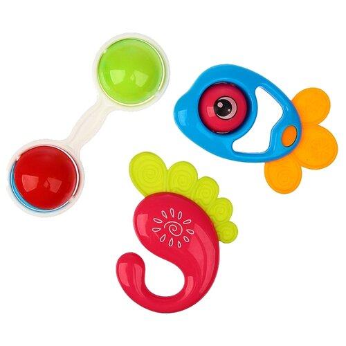 Фото - Набор Крошка Я Счастливый малыш 3602180 (3 шт.) красный/зеленый/синий комплект посуды крошка я зайка 3275231 зеленый