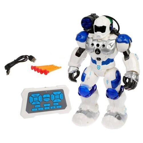 Фото - Интерактивная игрушка робот Zhorya Пультовод ZYA-A2750 белый/синий радиоуправляемый робот zhorya интерактивный белый кот 2059