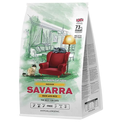Корм для кошек SAVARRA Indoor с уткой и с рисом 2 кг