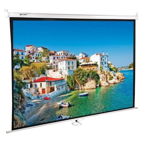 Экран проекционный Brauberg Wall матовый настенный 150х200 см 4:3