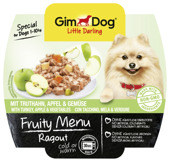 Корм для собак GimDog Little Darling Fruity Menu рагу из индейки, яблок и овощей