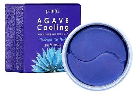 Гидрогелевые патчи для глаз с охлаждающим эффектом Petitfee Agave Cooling Hydrogel Eye Mask, 60шт