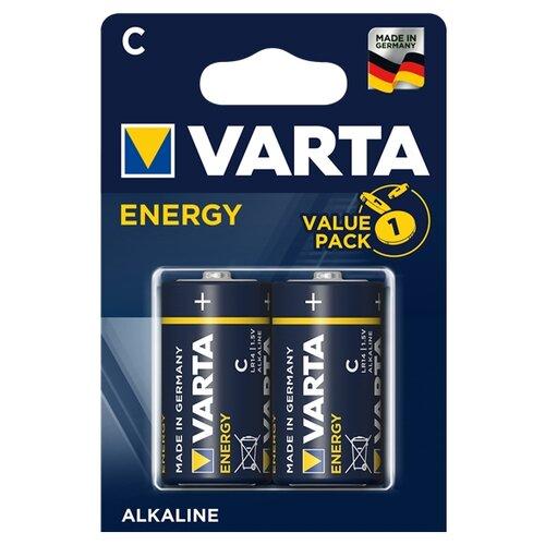 Фото - Батарейка VARTA ENERGY C/LR14, 2 шт. батарейка c ergolux lr14 alkaline bl 2 lr14 bl2