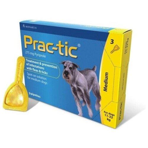 Elanco капли от блох и клещей Прак-тик для собак от 11 до 22 кг.