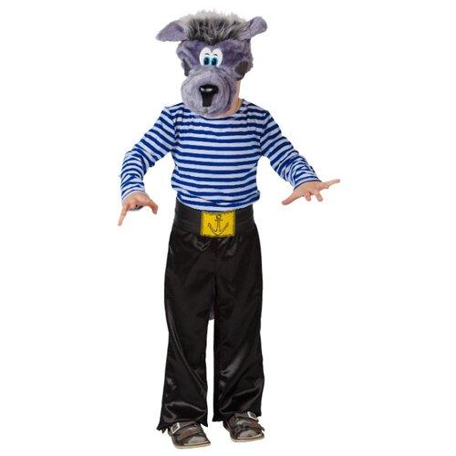 Купить Костюм Elite CLASSIC Волк моряк, белый/синий/черный, размер 32 (128), Карнавальные костюмы
