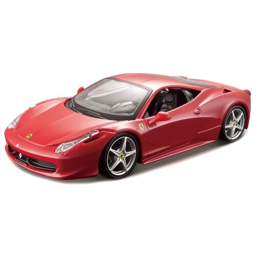 Легковой автомобиль Bburago Ferrari 458 Italia (18-26003) 1:24 18 см красный легковой автомобиль rastar ferrari 458 italia 47300 1 14 32 5 см красный