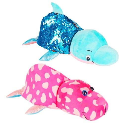 Купить Мягкая игрушка 1 TOY Вывернушка Блеск Дельфин-Морж 30 см, Мягкие игрушки