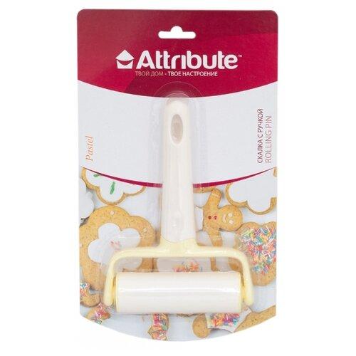 Скалка Attribute Pastel ABP291 10 см белый/желтый