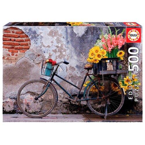 Пазл Educa Велосипед с цветами (17988), 500 дет.Пазлы<br>