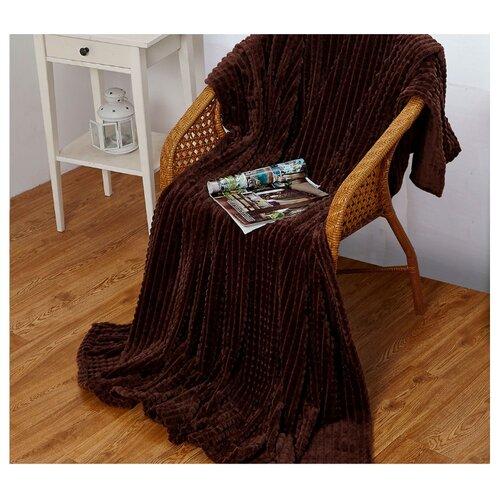 Плед Cleo Carre 150x200 см, темно-коричневый костюм домашний cleo cleo mp002xw1h0vu