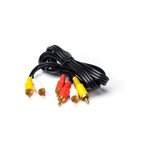 Фото - Кабель Olto 3xRCA - 3xRCA (RCH) 1 м черный olto accz 3013 white кабель usb