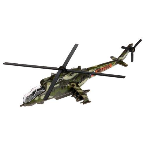 Купить Вертолет ТЕХНОПАРК МИ-24 (SB-16-58WB) 15 см зеленый камуфляж, Машинки и техника