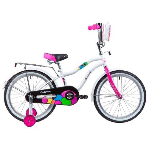 Детский велосипед Novatrack Candy 20 (2019) белый (требует финальной сборки)
