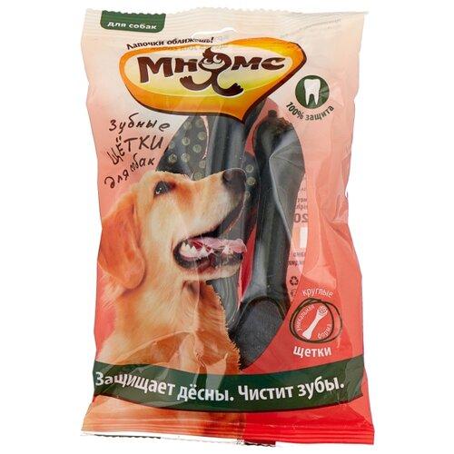 Лакомство для собак Мнямс Зубная щетка универсальная круглая, 4 шт. в уп.